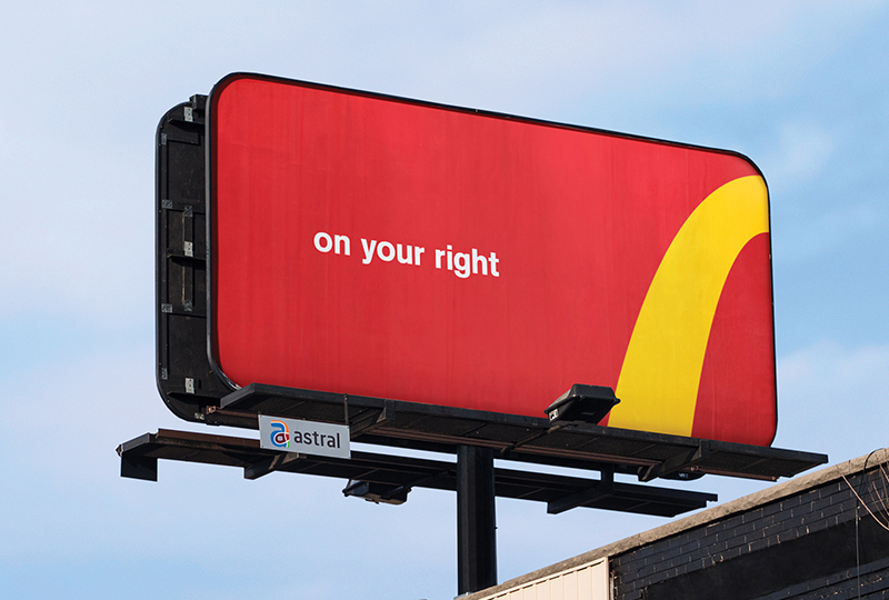 Mac Donalds Outdoor Billboard with Brand Mark and Messaging