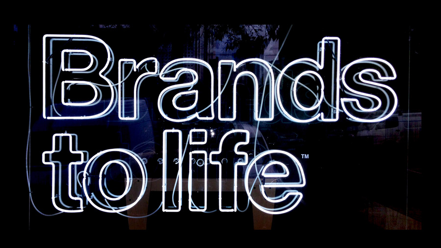 Brands to life neon brand mark signage