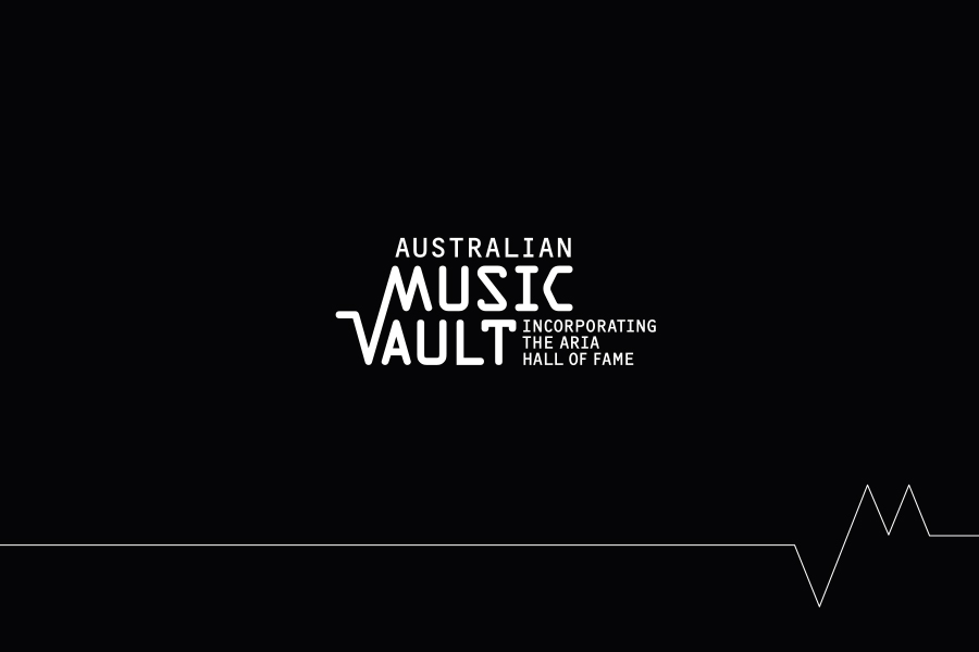 Australian Music Vault - Brand Mark including Aria Hall of Fame reference