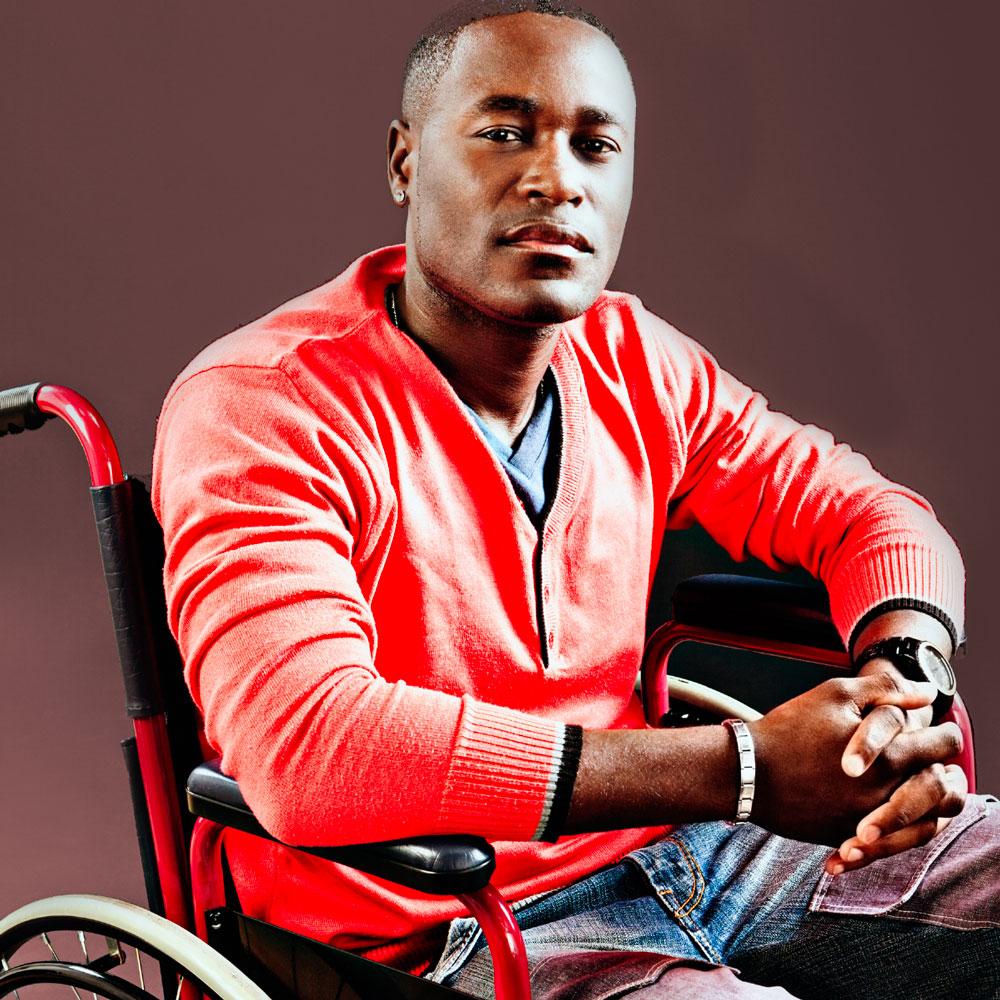 Averee hero imagery man on wheelchair