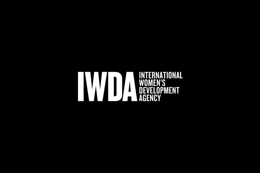 IWDA Reversed on black brand mark by Brands to life