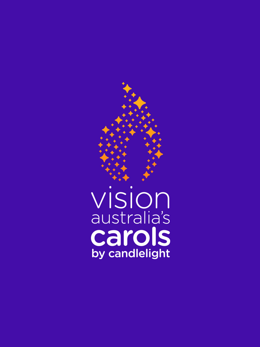 Vision Australia's carols by candlelight brand mark