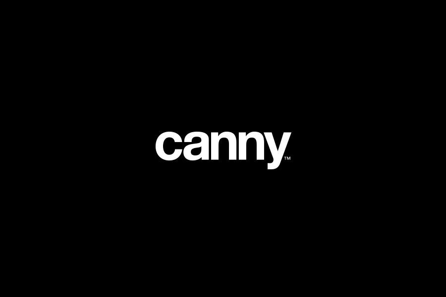 Canny Brand Mark reversed on black background