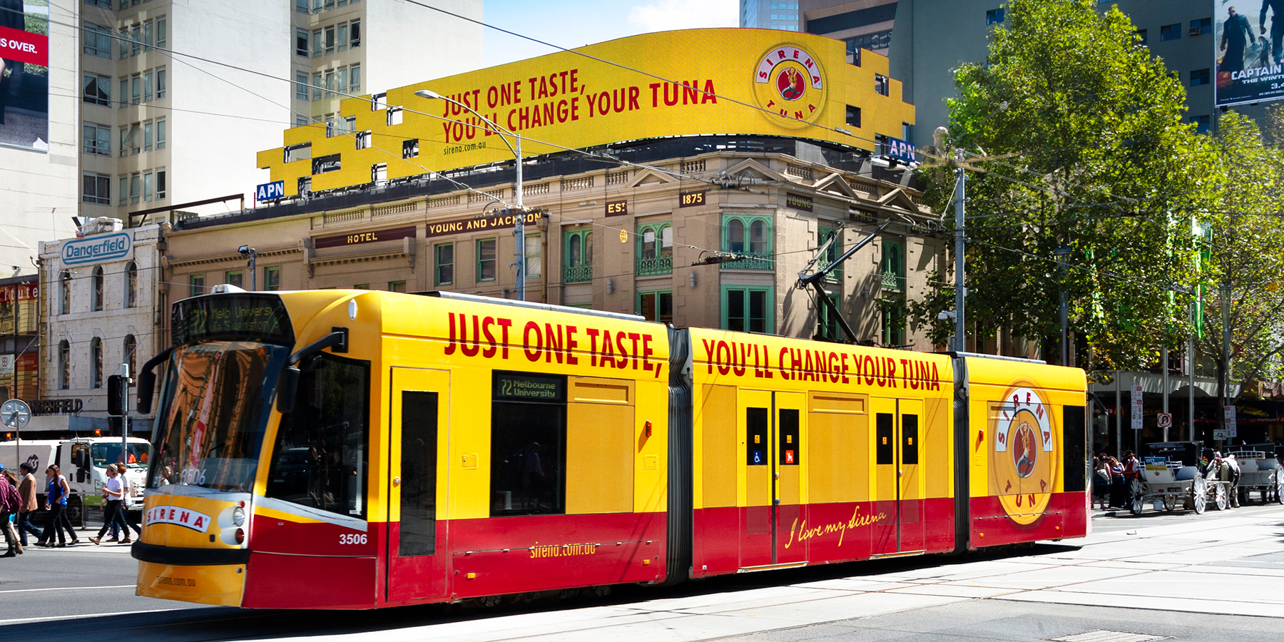 Sirena Branded Tram with Outdoor Advertising Campaign