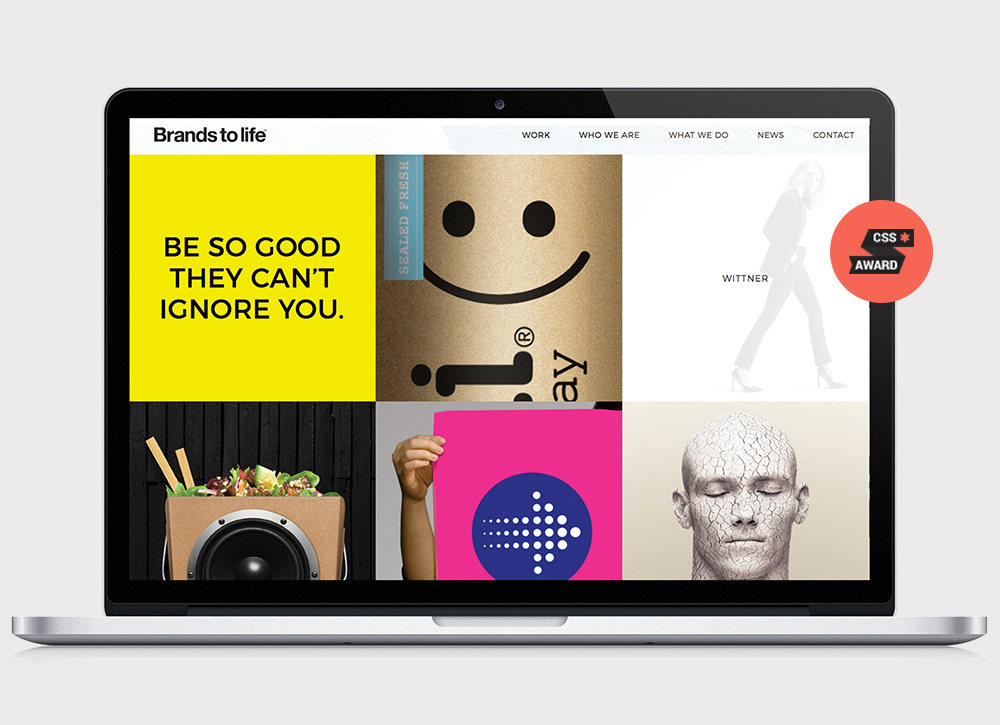 Brands to life - Branding Agency CSS winner pic