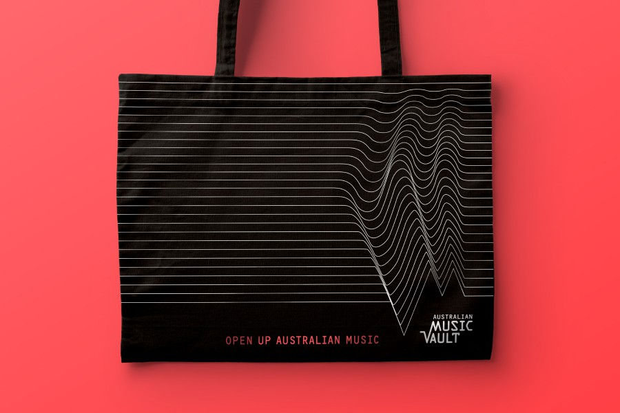 Australian Music Vault - branding applied to tote bag