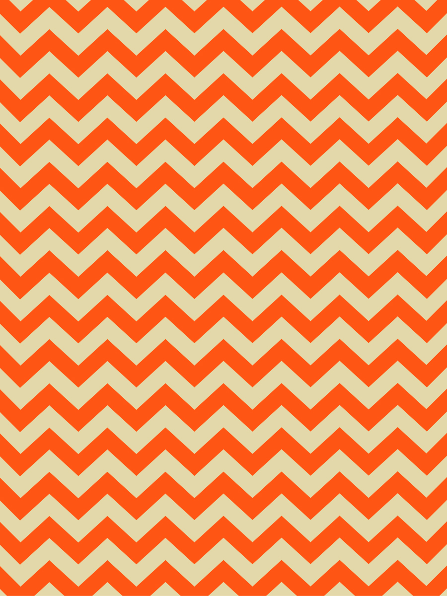 Safari Frank Orange Zigzag Pattern