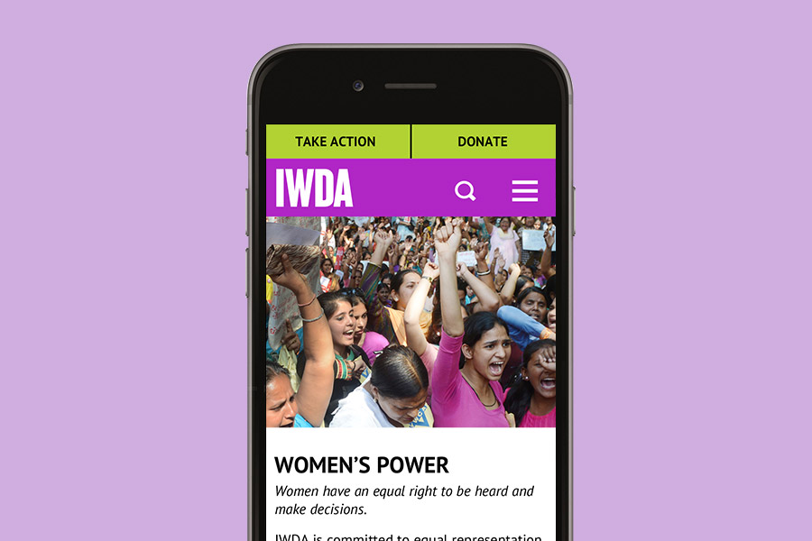 IWDA Branding applied to mobile