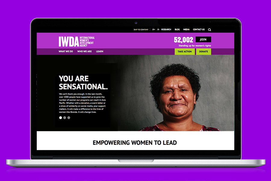 IWDA Branding applied to web