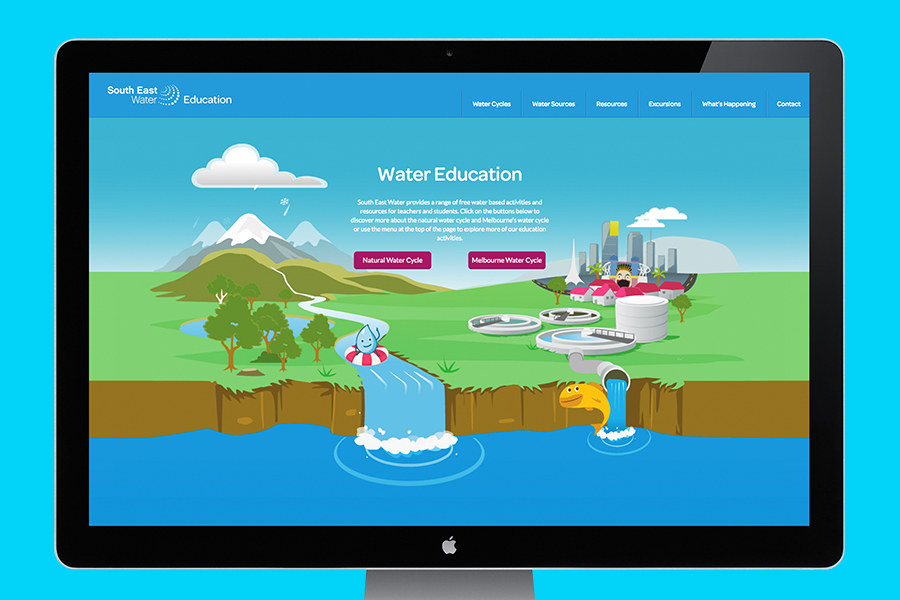 South East Water Education Website Design