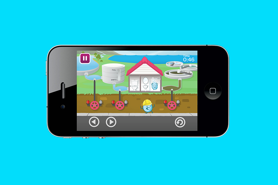 South East Water Education Game applied to iphone