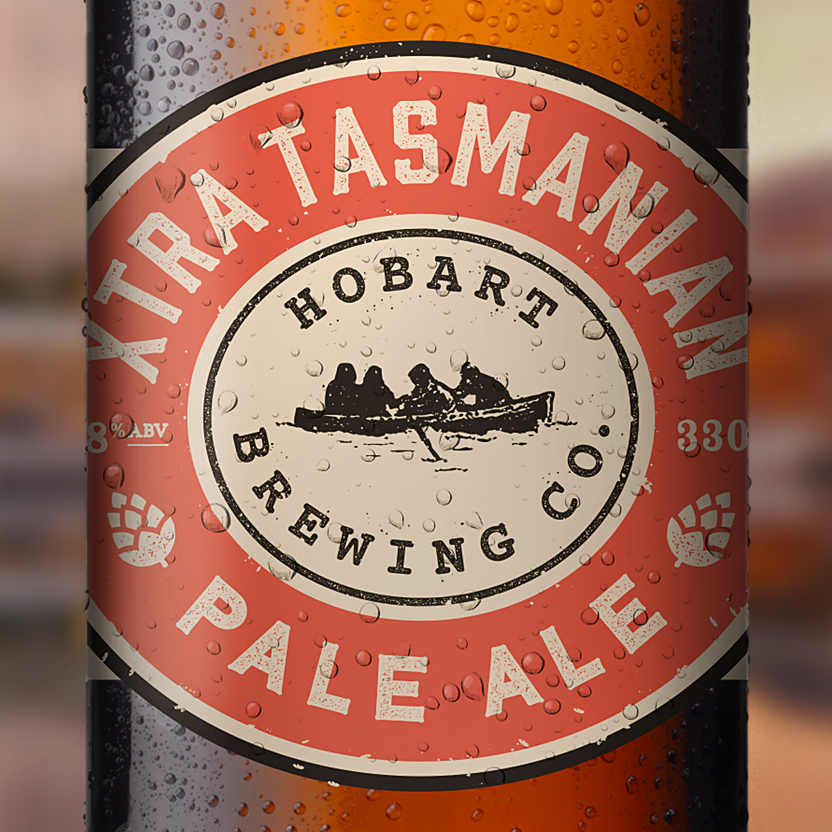 Hobart Brewing Company - packaging featuring brand mark refresh