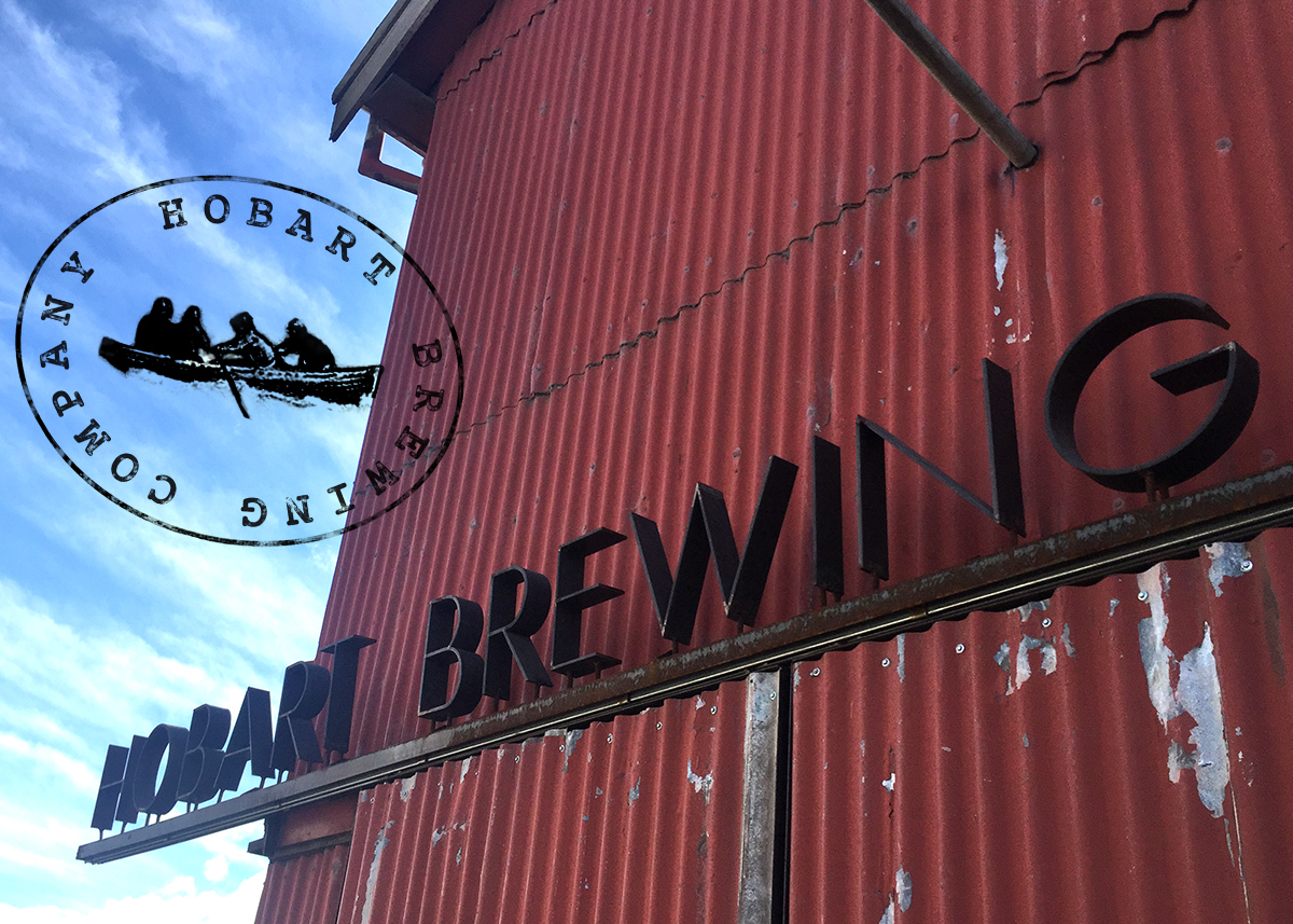 Hobart Brewing Company - image of red shed for blog