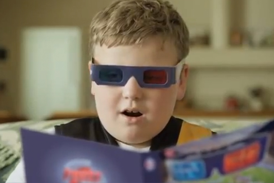 Herald Sun Advertising Campaign Boy with 3D glasses
