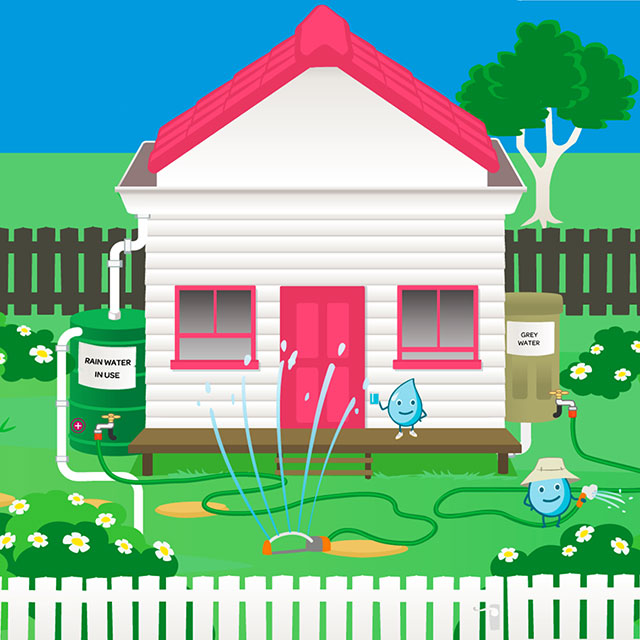 South East Water Home Education Illustration