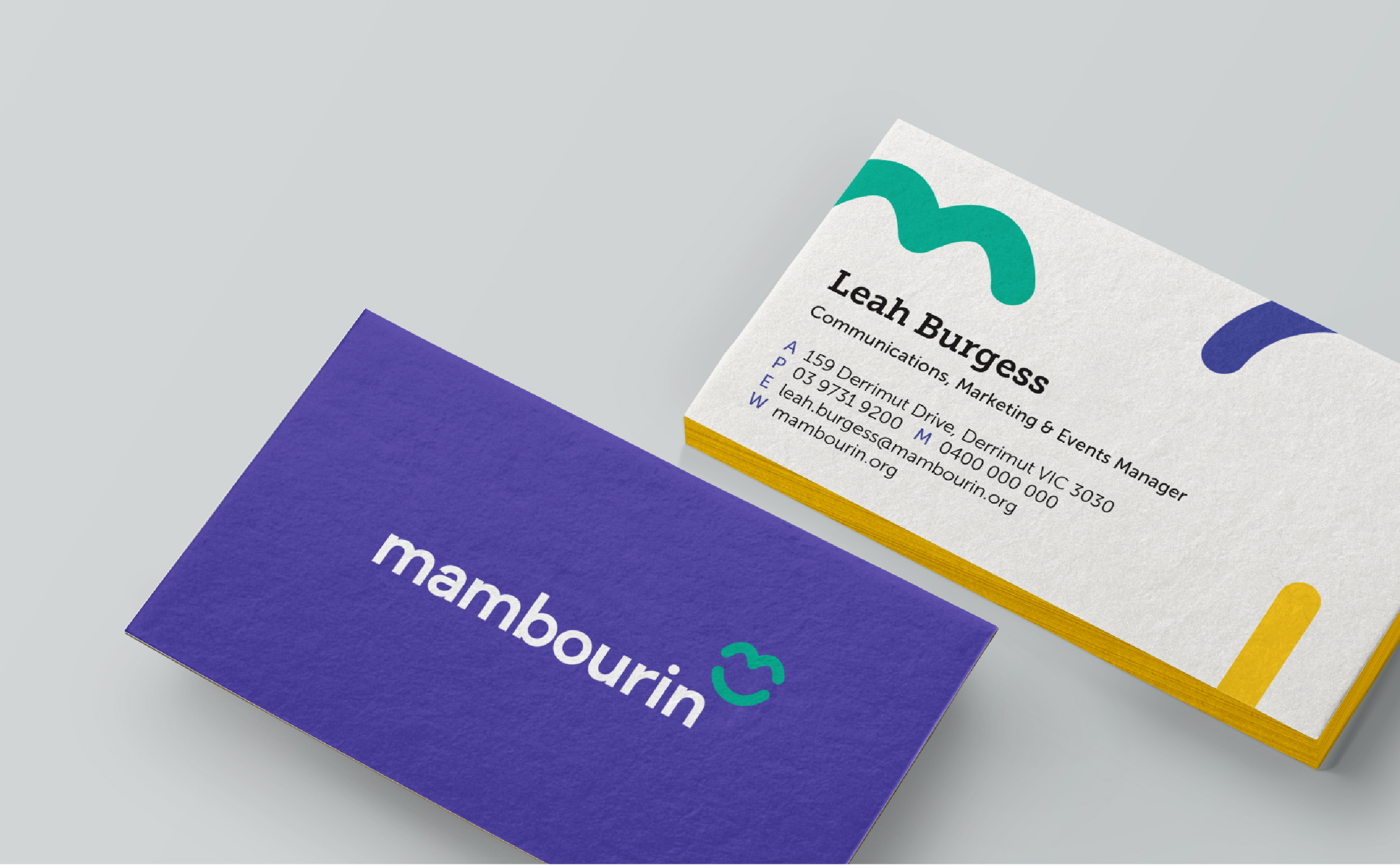 Mambourin - Re-brand new business card design