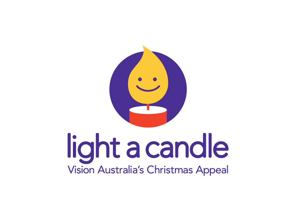 Vision Australia's Christmas Appeal - Light a candle brand mark
