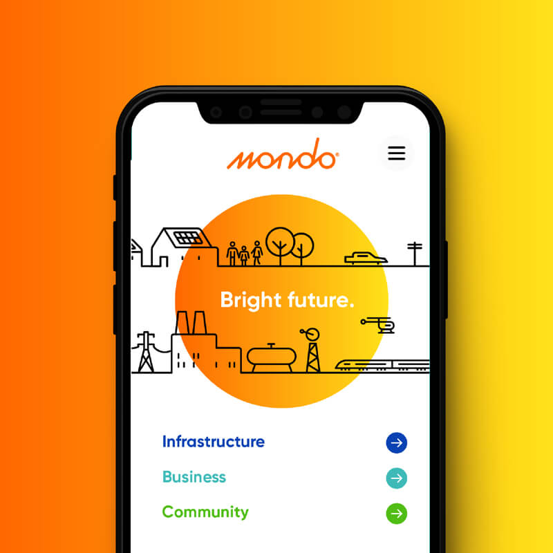 Mondo Website Homepage Design Mobile View
