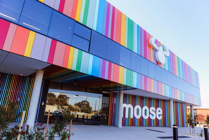 Moose Toys - Refreshed Branding applied to the outside of their building