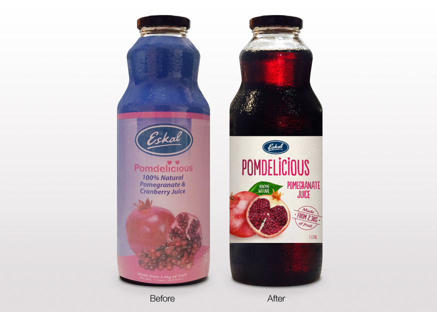 Brand Mark Before and After - PomDelicious