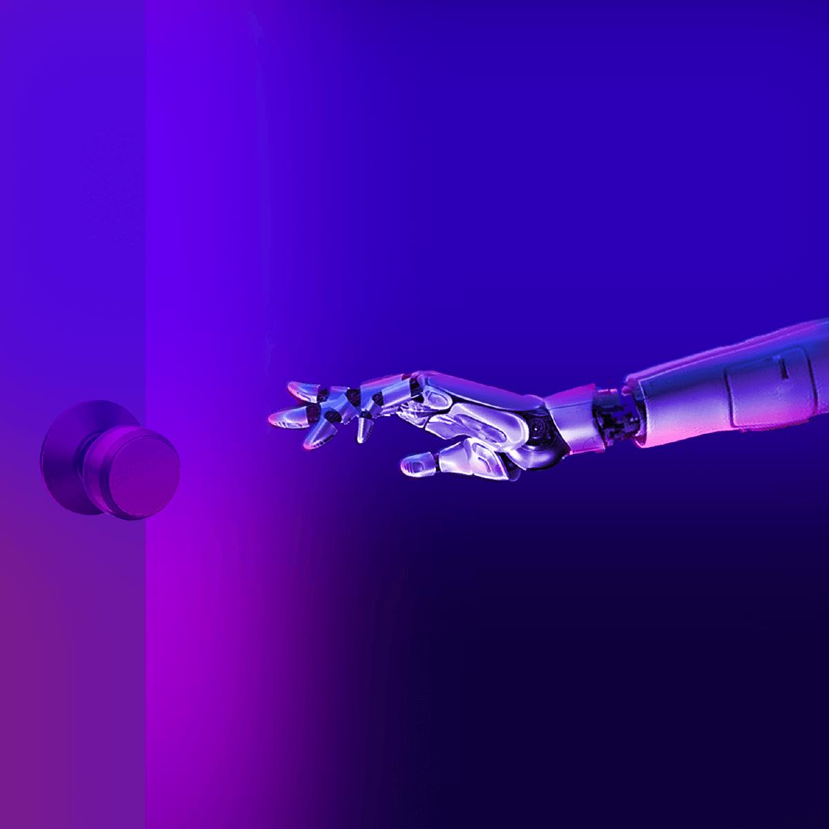 Sensory-underground-Purple-Robot-Hand-Opening-Door