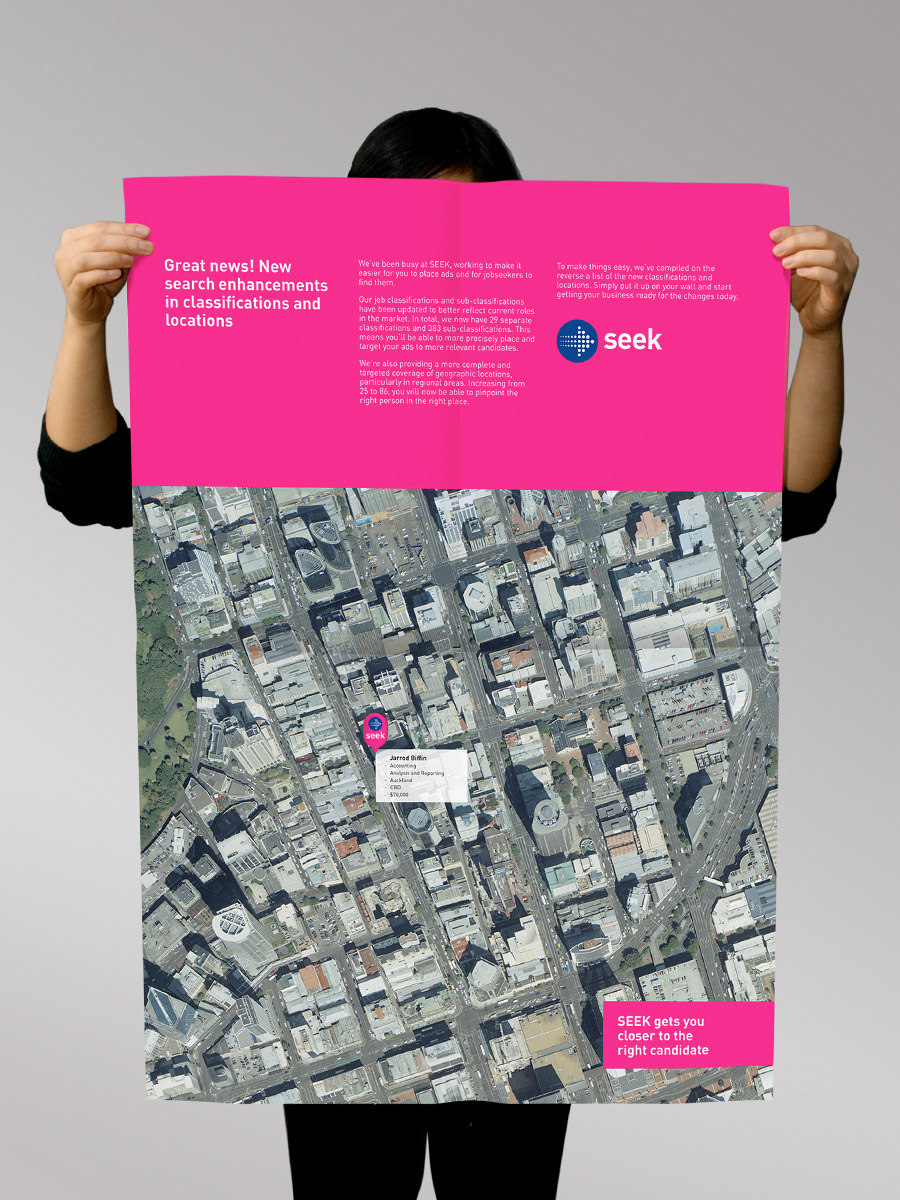 Seek brand collateral poster