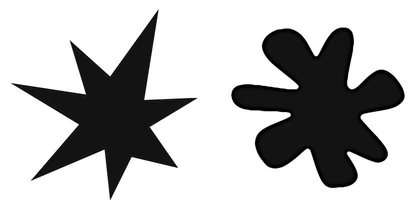 Shapes - Starburst and Splodge - Brand Marks