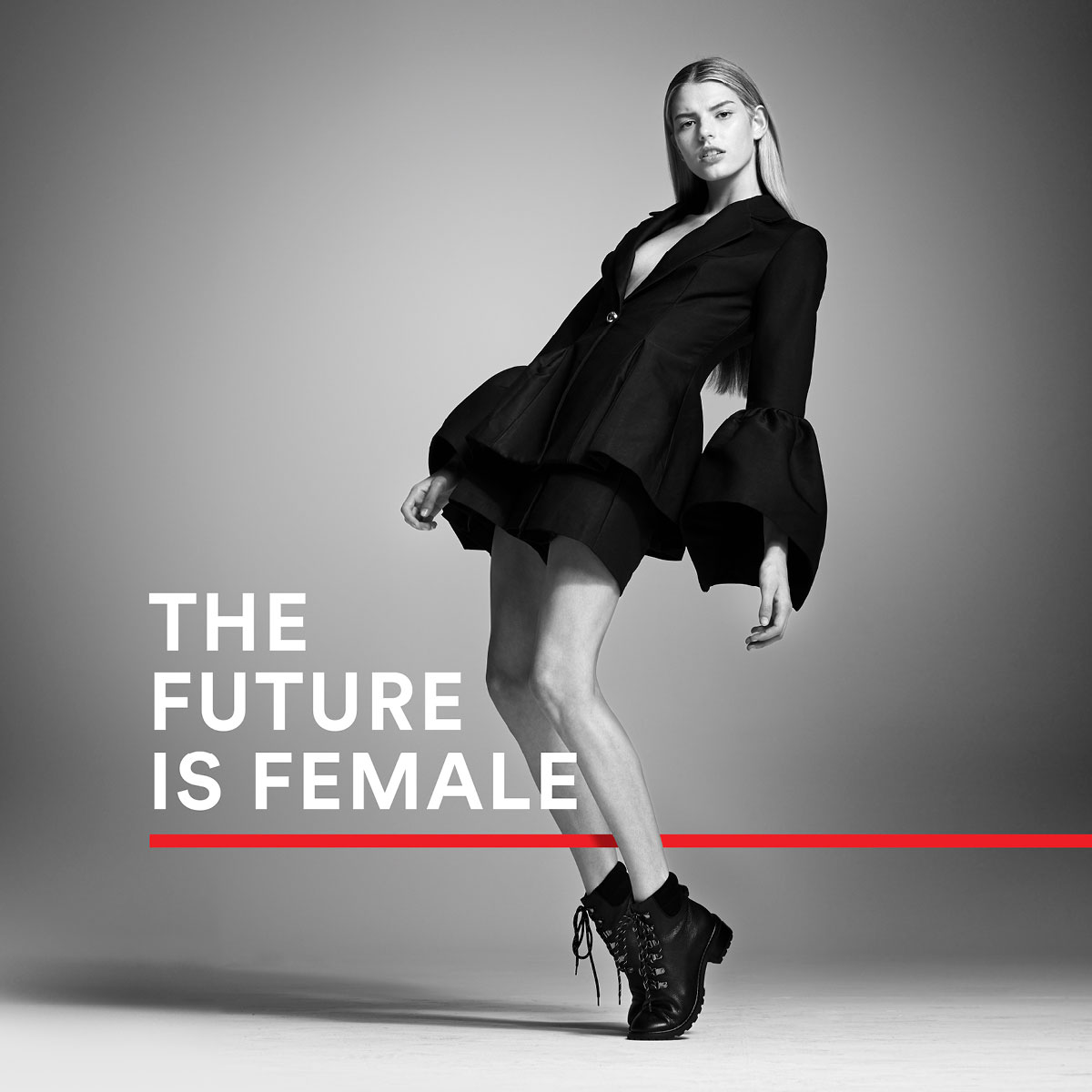 Wittner The Future is Female Advertising Campaign - girl in short boots on toes
