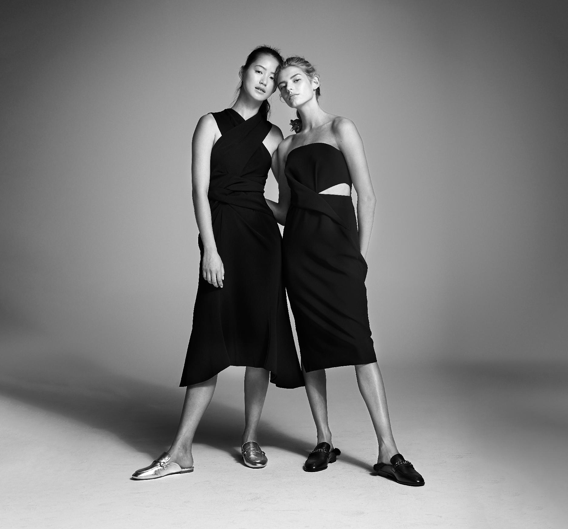 Wittner Brand Advertising still of 2 model girls standing wearing black