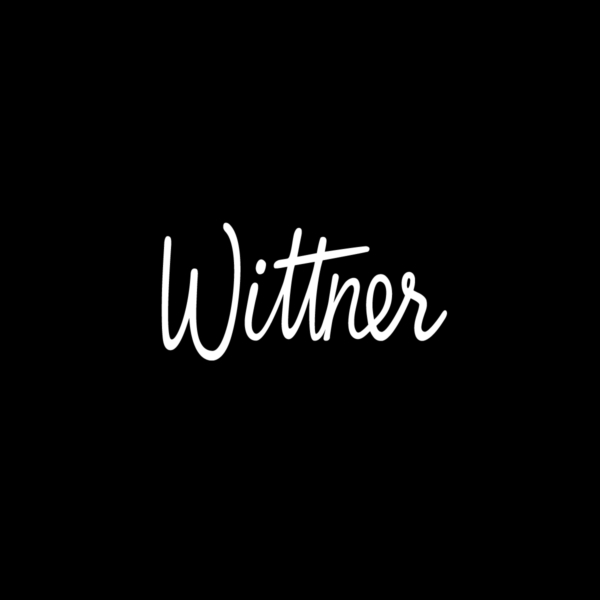 Wittner Brand Identity Brand Mark on black background