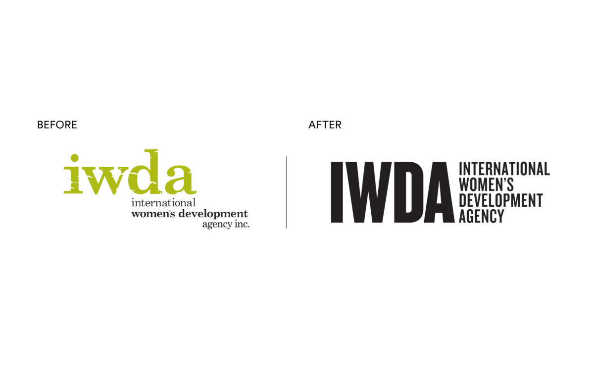 International Women's Development Agency old Logo - new Brand Mark