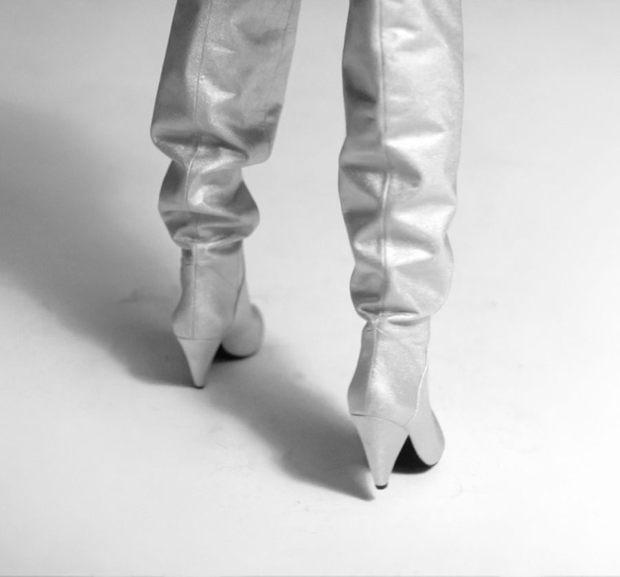 Wittner The Future is Female Advertising Campaign Silver boots close up