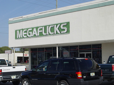 Brand Fail Example - Megaflicks Poor Font Choice