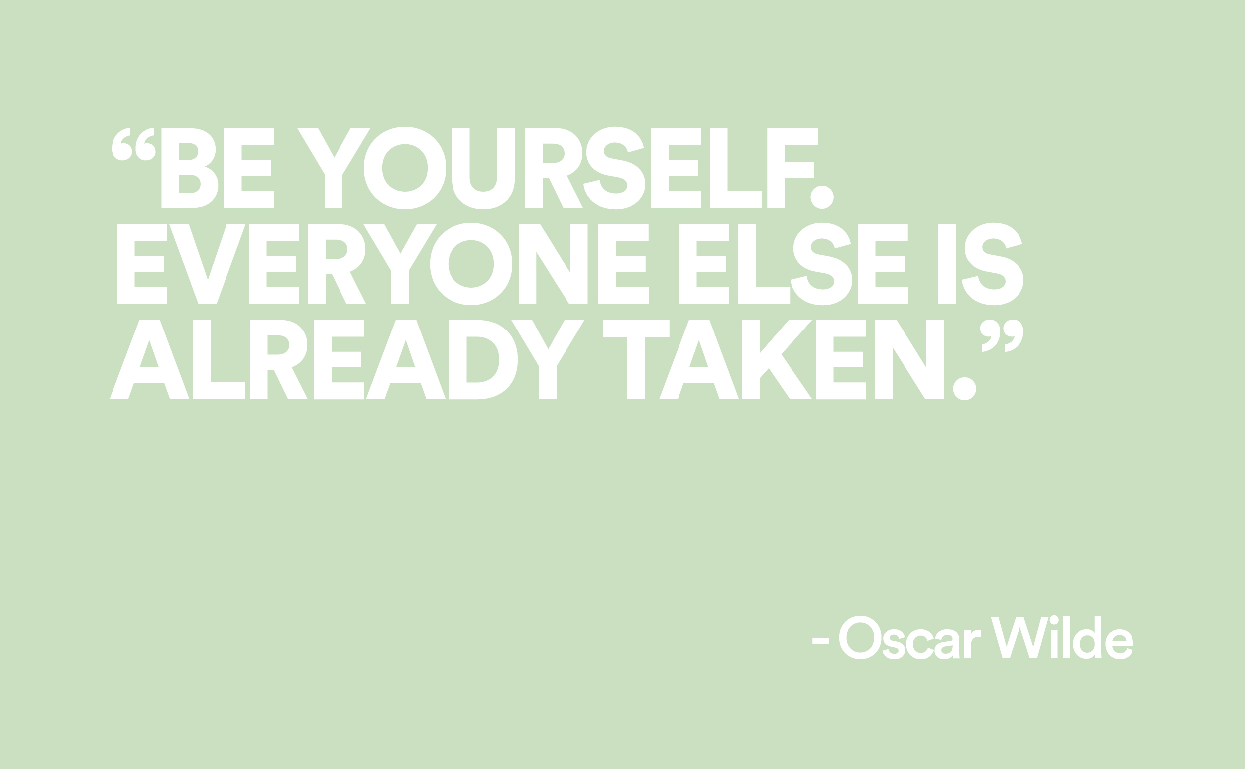 oscar wilde quote on green background brands to life