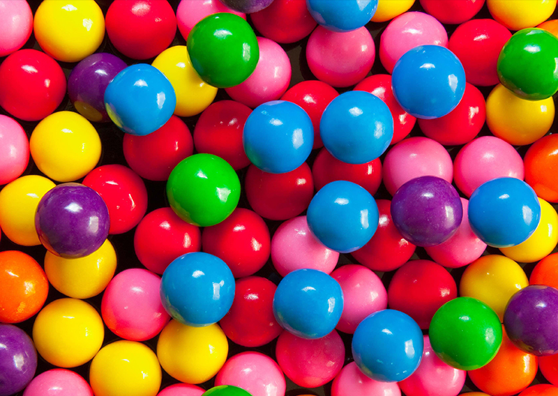 Bubblegum Balls Bright Colours Branding Design