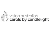 Vision Australian Carols by Candlelight Mono Brand Mark