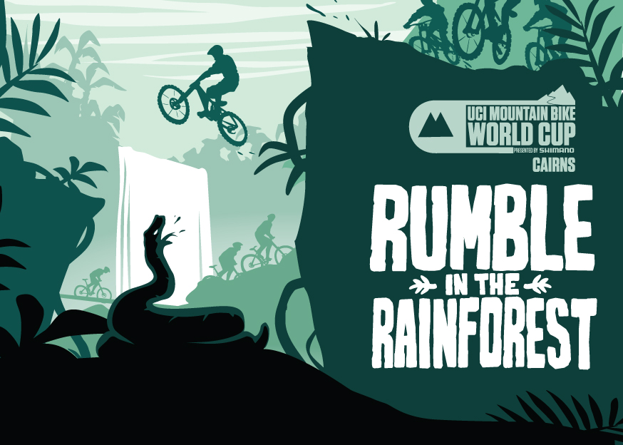 Cycling Australia - Advertising image for rumble in the jungle world cup