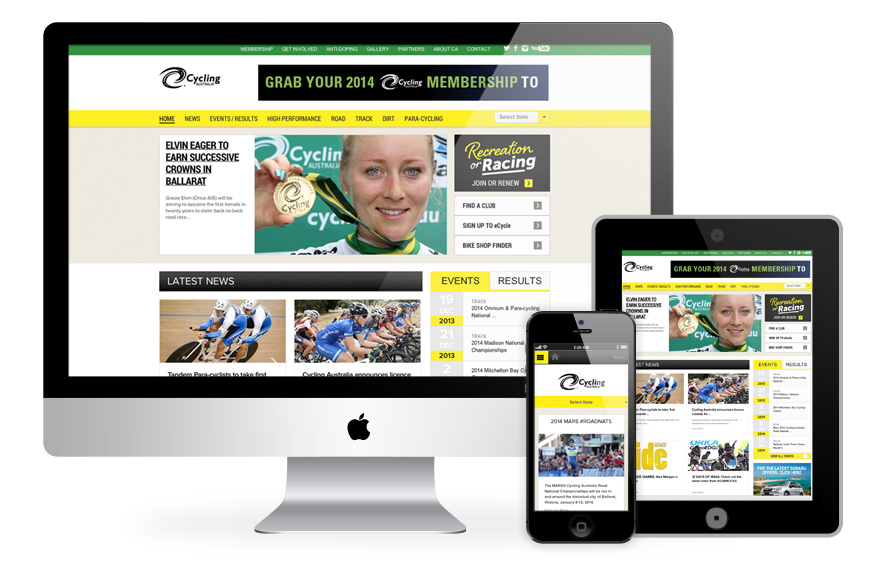 Cycling Australia - new website creative