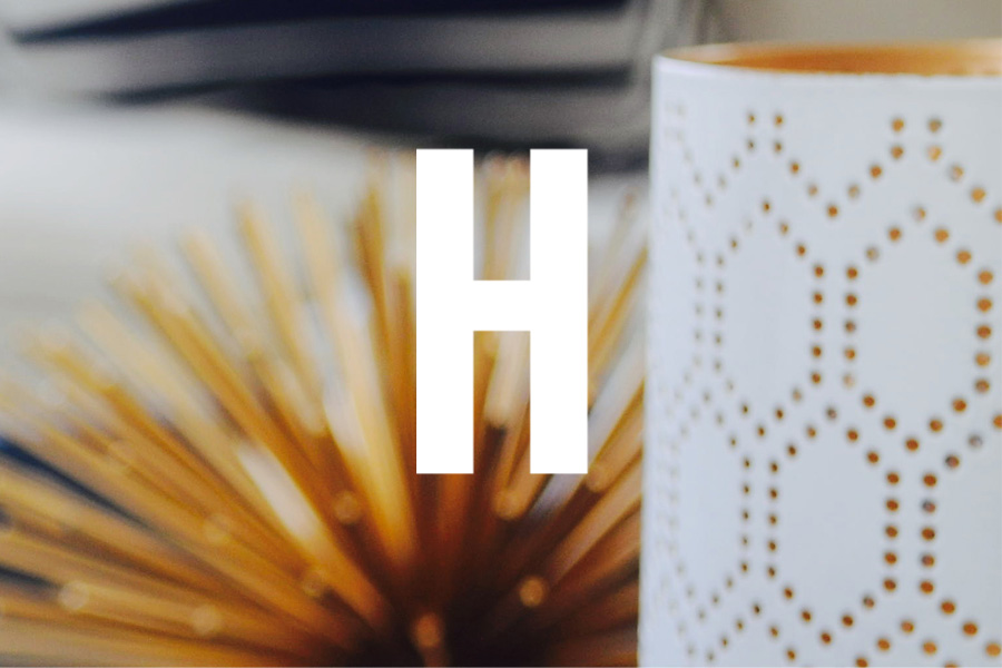 House of Home Brand Mark Design Letter H