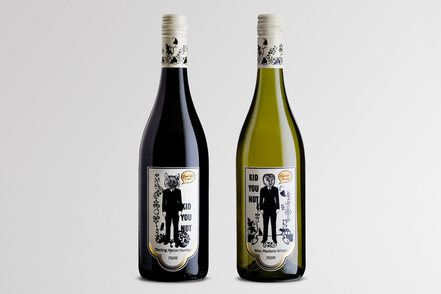 Kid you Not - packaging wine labels