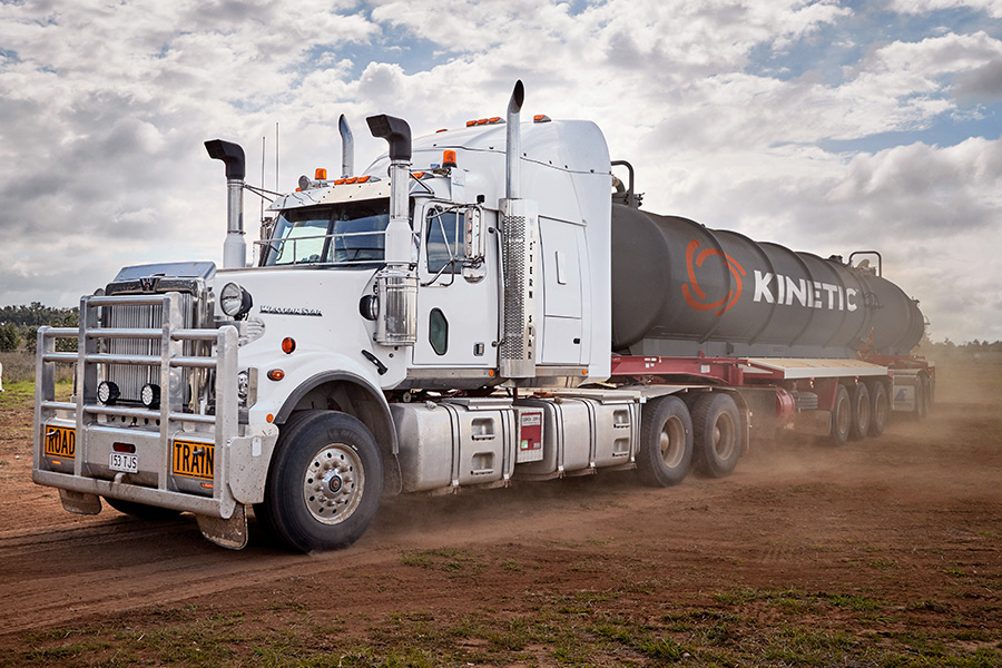 Kinetic Branding applied to Truck