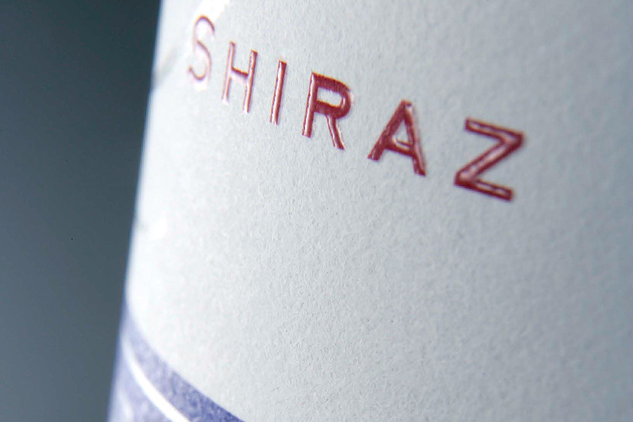 Mount Langi Ghiran - Shiraz wine label close up