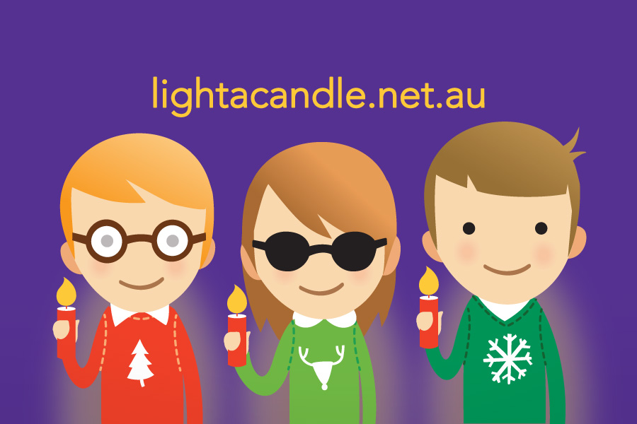 Vision Australia's Carols by Candle light characters