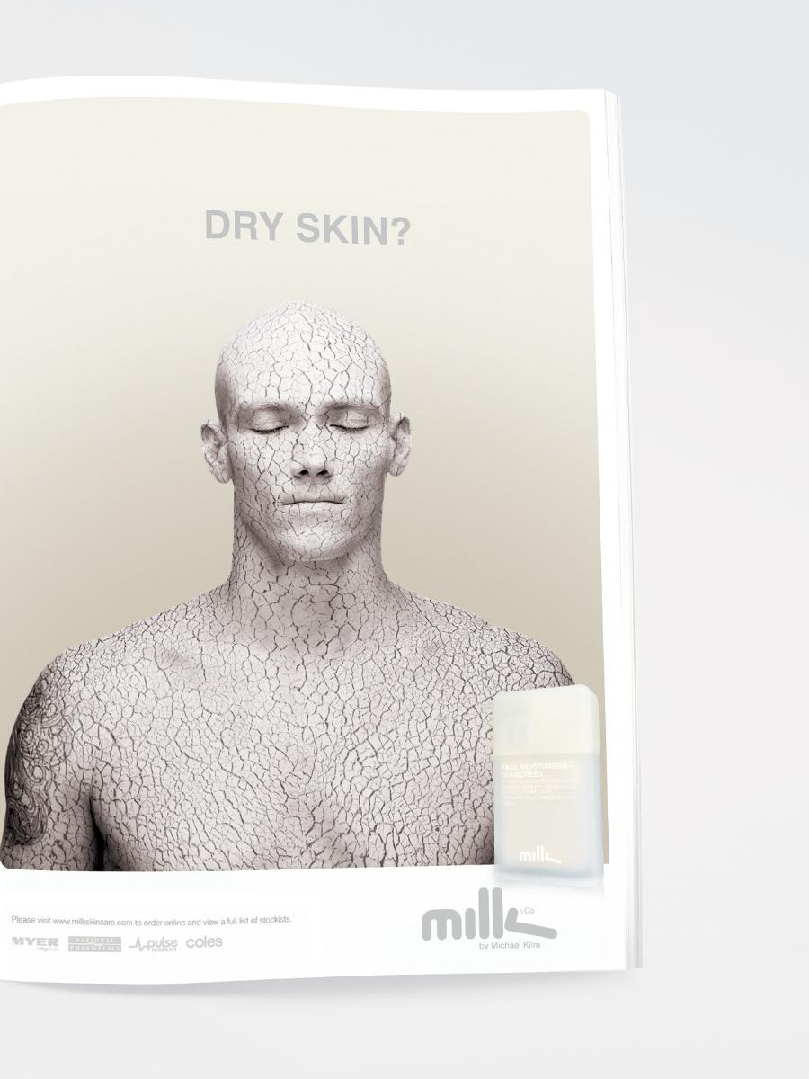 Michael Klim - Milk Dry Skin magazine ad