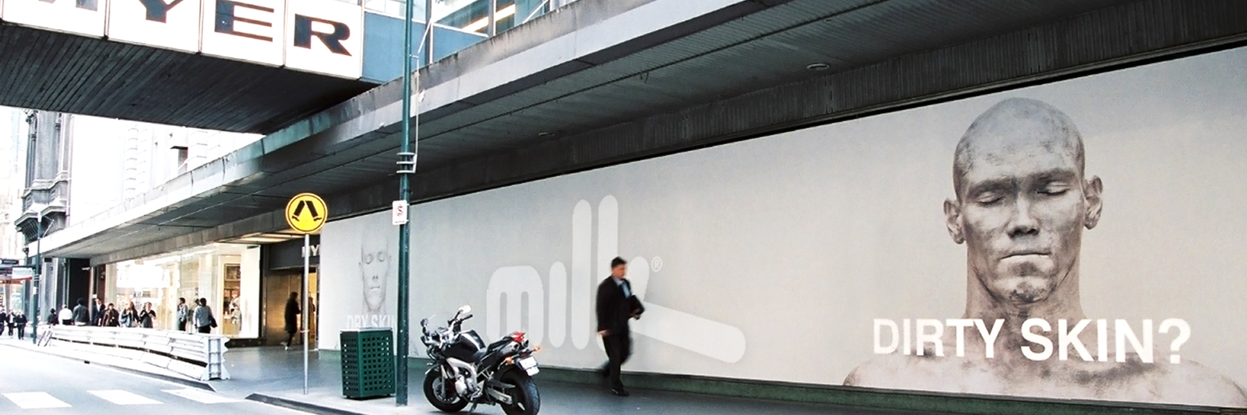 Michael Klim - Milk Branding Advertising Outdoor