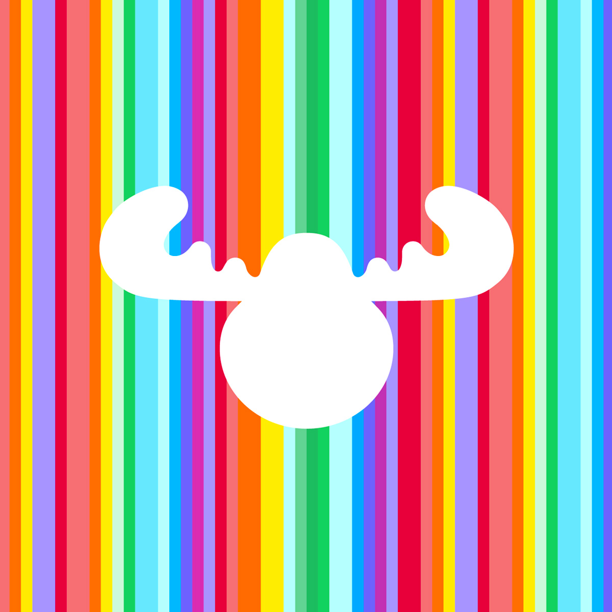 Moose Toys Brand Mark - on coloured stripe brand visual asset background