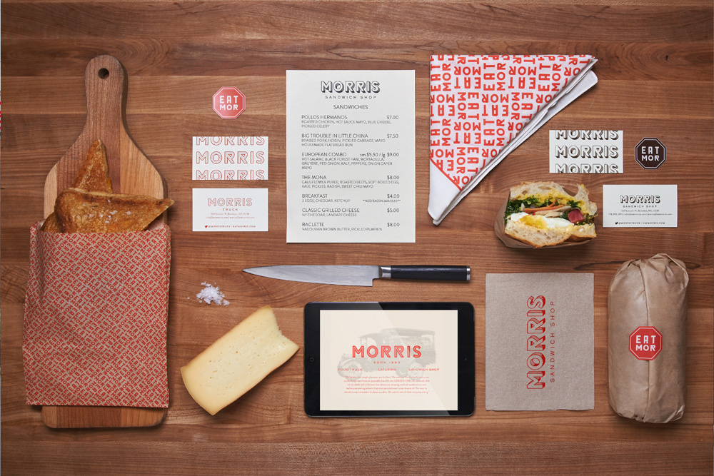 Morris Branding Design, Logos and Branded Materials
