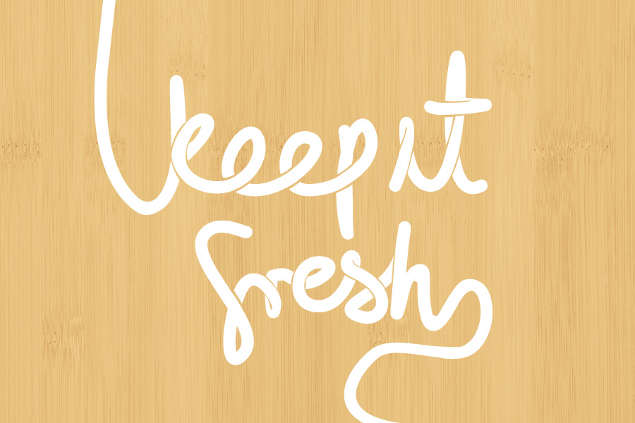 Noodle Box Keep it Fresh hand Typography