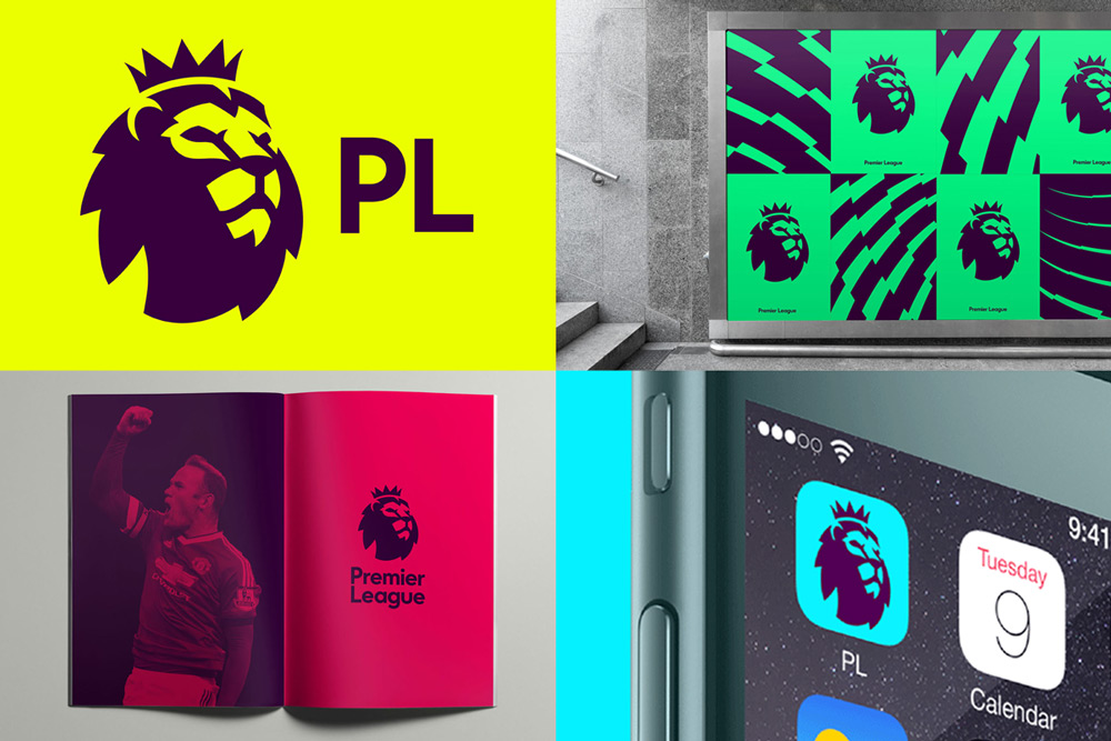 Premier League Branding Design and Logos
