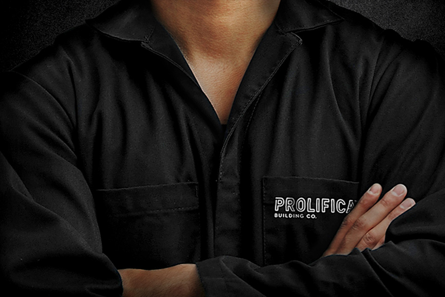 prolifica branding on uniform